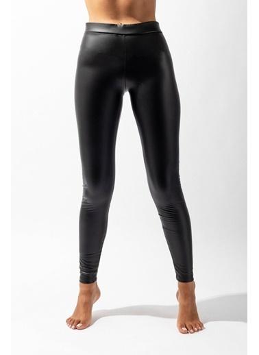 Katia & Bony Natural  Leather Kadın Tayt - Siyah Siyah